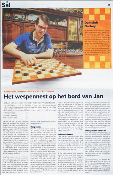Jan van Dijk in SA
